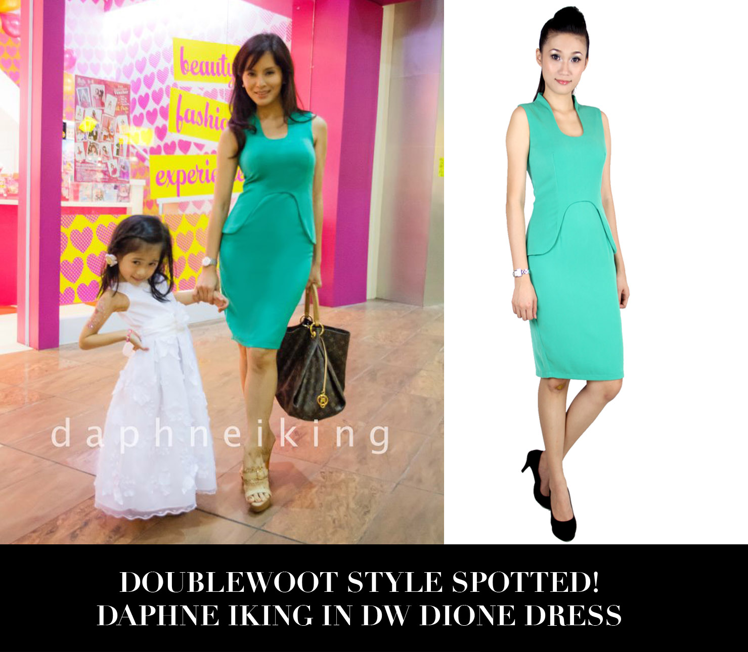 Daphne Iking in Dione Doublewoot Dress