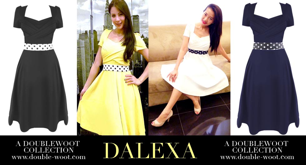 hannah tan and chelsia ng in doublewoot dresses