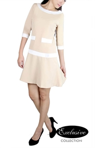 Picture of Quilla Dress (Beige)
