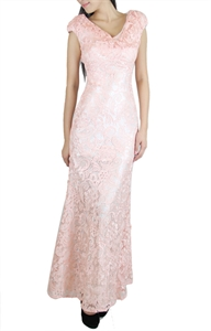 Picture of Merla Lace Maxidress (Pink)
