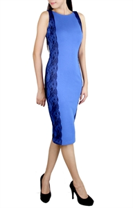Picture of Shonda Lace Dress (Blue)