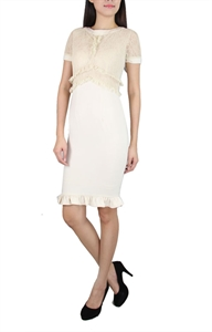 Picture of Onnie Lace Pencildress (Beige)