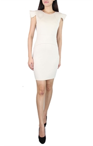 Picture of Mourve Structured Modedress (Beige)