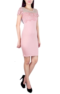 Picture of Isobelle Embroidered Modedress (Pink)