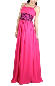 Picture of Leoneigh Lace Dress (Dark Pink)
