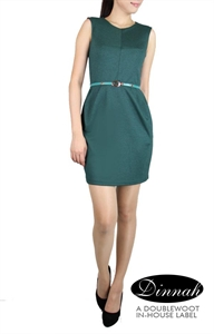 Picture of Dinnah Sheathdress (Dark Green)