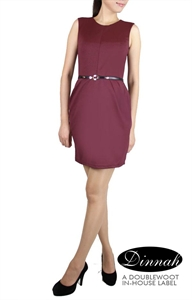 Picture of Dinnah Sheathdress (Maroon)