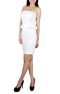Picture of Louisa Peplum Tubedress (White)