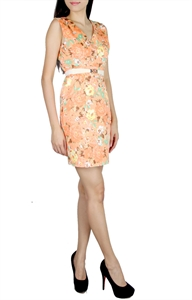 Picture of Fyacinth Florals Sheathdress (Orangebase)