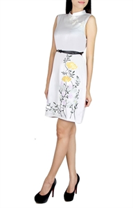 Picture of Elinde Embroidered Dress (White)