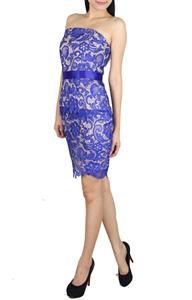 Picture of Selande Lace Peplum (Blue)