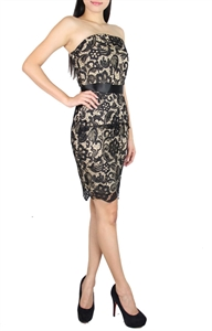 Picture of Selande Lace Peplum (Black)