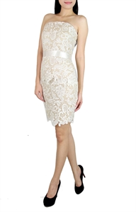 Picture of Selande Lace Peplum (Cream)