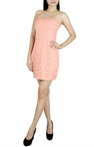 Picture of Hulda Lace Tubedress (Peach)