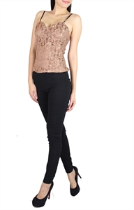 Picture of Shevolle Lace Bustier (Brown)