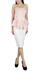 Picture of Lavern Florals Top (Light Pink)