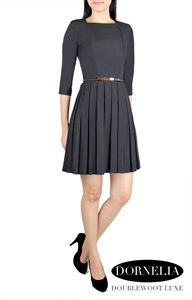 Picture of  Dornelia Pleated Skater by Doublewoot (Black)