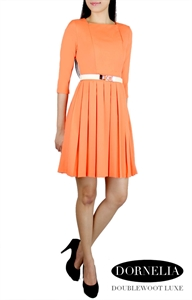Picture of  Dornelia Pleated Skater by Doublewoot (Orange)