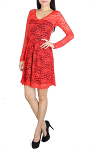 Picture of Relande Lace Skater (Red)