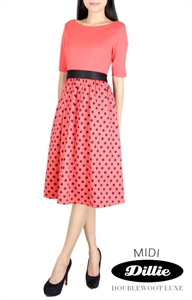 Picture of MIDI Dillie Polkadress by Doublewoot (Coral)