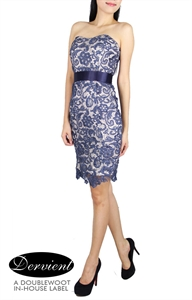 Picture of NEW Dervient Lace Dress (Blue)