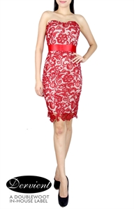 Picture of NEW Dervient Lace Dress (Red)