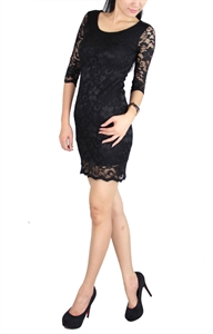 Picture of Necarne Lace Dress (Black)