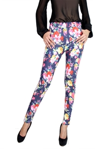Picture of Rocine Floral Pants (Navy)