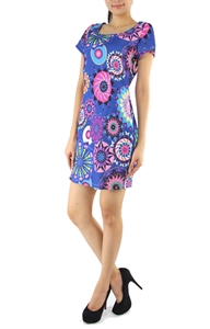 Picture of Circene Printed Dress (Blue)