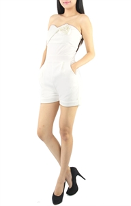 Picture of Qirnia Rose Romper (White)