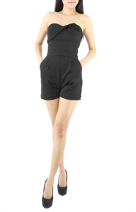 Picture of Qirnia Rose Romper (Black)