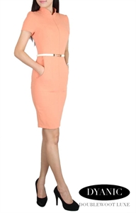 Picture of Dyanic Belted Modedress (Peach)