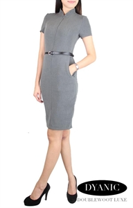 Picture of Dyanic Belted Modedress (Grey)