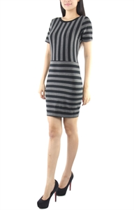 Picture of Tammy Stripe dress (Grey)
