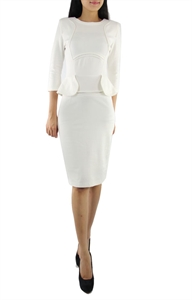 Picture of Mariana Peplum (White)