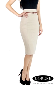 Picture of NEW Dorene Belted Skirt by Doublewoot (Beige)