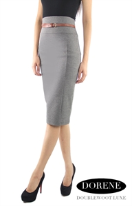 Picture of NEW Dorene Belted Skirt by Doublewoot (Grey)