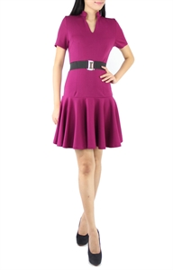 Picture of Carey Belted Dress (Purple)