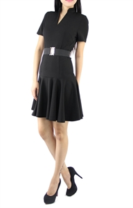 Picture of Carey Belted Dress (Black)