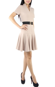 Picture of Carey Belted Dress (Beige)