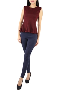 Picture of Hannah Peplum Top (Maroon)