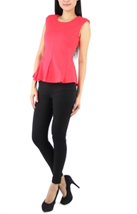 Picture of Hannah Peplum Top (Pink)