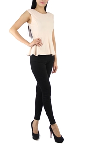 Picture of Hannah Peplum Top (Beige)