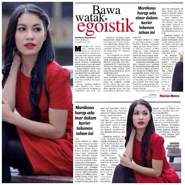 Harian Metro Feature on Mardiana Alwi