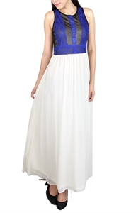 Picture of Aejorn Lace Maxi (Blue)