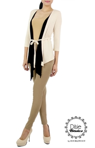 Picture of Dilsie Drape Cardi by Doublewoot (Beige)